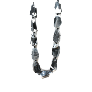 Necklace 2135A 58 Juveloj string stone necklace black