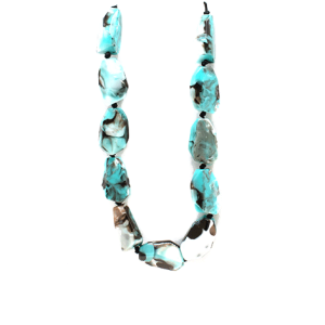 Necklace 2016B 58 Juveloj string stone necklace turquoise