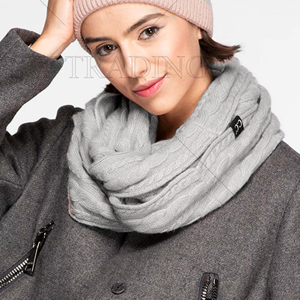 Scarf 253 CC Exclusives Ribbed Infinity Scarf gray