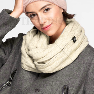 Scarf 246 CC Exclusives Ribbed Infinity Scarf ivory