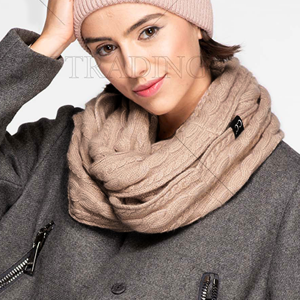 Scarf 252 CC Exclusives Ribbed Infinity Scarf taupe