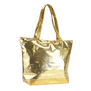 3D Iridescent Tote gold