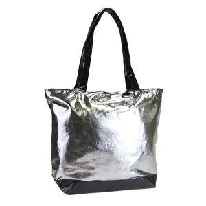 3D Iridescent Tote pewter