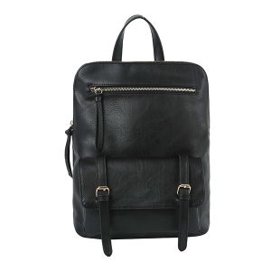 Handbag Republic JNM-0058 modern convertible backpack black