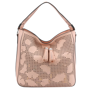 handbag republic JY-0215 2 in 1 hobo laser cut blush