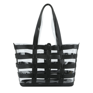 Handbag Republic JYV 0338 shopper tote transparent black