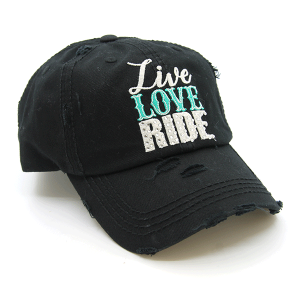 Cap 404 30 KBEthos distressed cap live love ride black