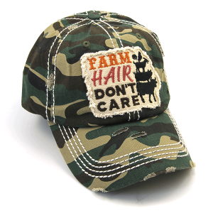 Cap 411a 30 KBEthos distressed farm hair don't care camo