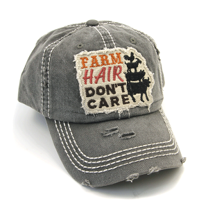 Cap 410a 30 KBEthos distressed farm hair don't care charcoal