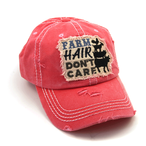 Cap 414a 30 KBEthos distressed farm hair don't care pink