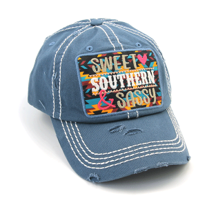 Cap 421a 30 KBEthos distressed Sweet Southern & Sassy blue