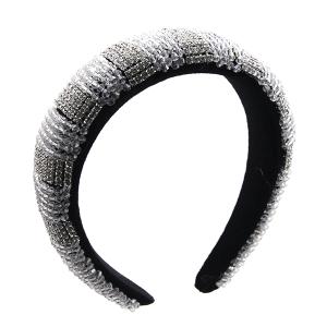 Headband 157a 52 Jennifer & Co rhinestone clear