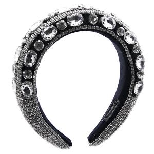 Headband 146a 52 Jennifer & Co rhinestone black clear