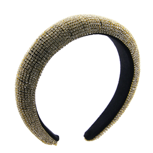 Headband 172a 52 Jennifer & Co rhinestone clear gold