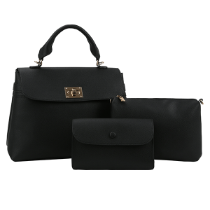 Handbag Republic L-0238 3 in 1 satchel set black