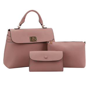 Handbag Republic L-0238 3 in 1 satchel set mauve pink