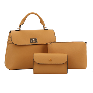 Handbag Republic L-0238 3 in 1 satchel set mustard yellow