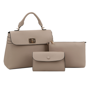 Handbag Republic L-0238 3 in 1 satchel set stone