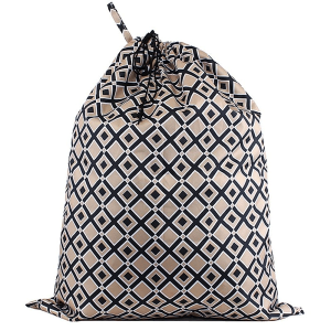CK LB 1605 laundry bag geometric diamond black gold