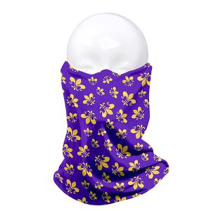 Full Face Mask 003d 04 LOF Fleur De Lis Purple Gold