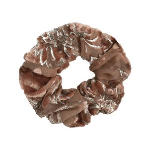 Hair Tie 760 30 KW burnout velvet scrunchie beige