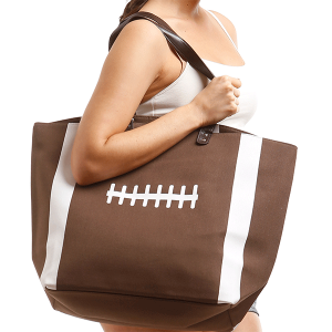 LOF LOA-063 large football tote brown