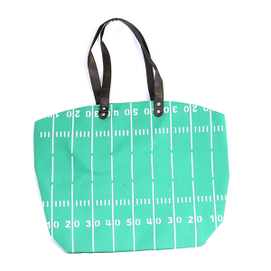 Wholesale Large Canvas Football Track & Field Tote Bag Green