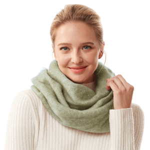 Scarf 375 04 LOF solid soft infinity scarf olive