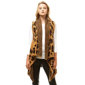 Vest 385 04 LOF leopard pattern brown