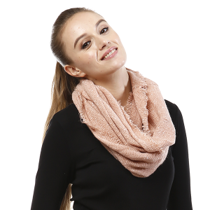 Scarf 281 LOF761 Infinity Scarf pink