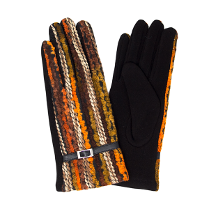 Gloves 040 LOF Touch Screen multi color yarn brown
