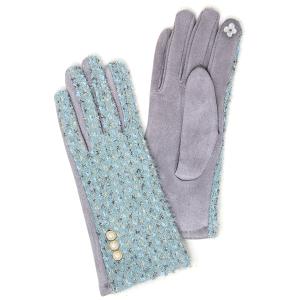Winter Gloves 009 04 LOF soft lurex pearl smart touch mint