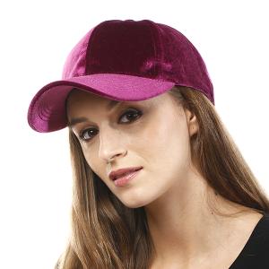 Cap 056o 04 LOF Solid Soft baseball cap plum