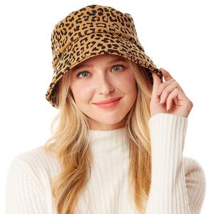 Bucket Hat 024e 04 LOF leopard print brown