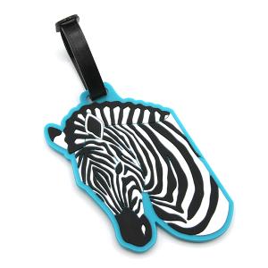 Luggage Tag 096 34 Zebra turquoise