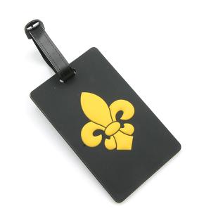 Luggage Tag 094 34 Fleur De Lis black gold