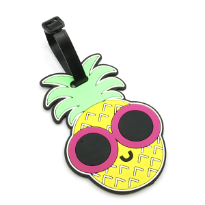 Luggage Tag 097 34 Pineapple glasses yellow pink