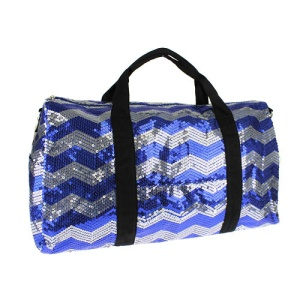 cs lus q 2812 sv chevron sequin duffle bag royal blue silver