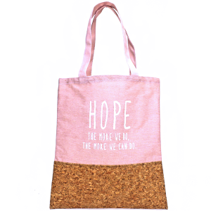 TPO MB0001 Canvas Tote cork HOPE pink