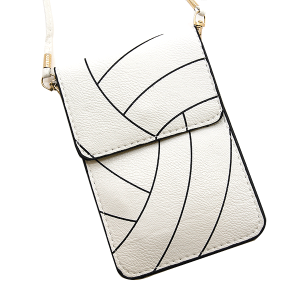 Volleyball Pouch Crossbody Leather White