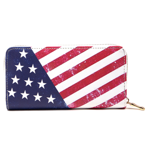 TPO MB0100 zipper wallet USA Flag
