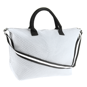 3D mesh duffle bag white