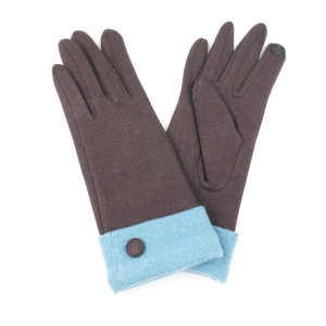 Winter Gloves 010 Touch Screen Brown Green
