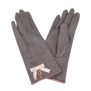 Winter Gloves 005 Touch Screen ribbon brown