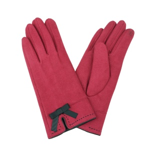 Winter Gloves 006 Touch Screen ribbon red