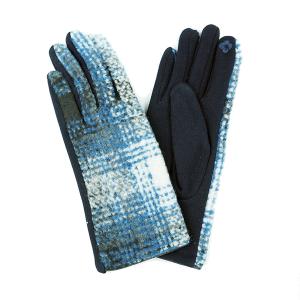 Winter Gloves 045 Touch Screen gradient navy white