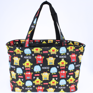luggage 4821 large grocery/utility tote monster black