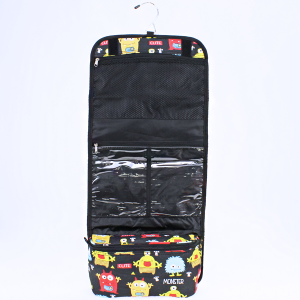 luggage 8012 hanging cosmetic case monster black