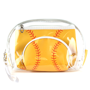 TPO MP0108 3pc cosmetic case set softball