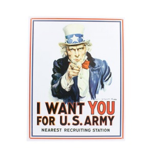 ms 128 tin sign uncle sam i want you